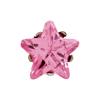 Rózsaszín, csillag alakú, 5 mm-es