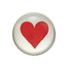 Piros szív, 5,5 mm-es